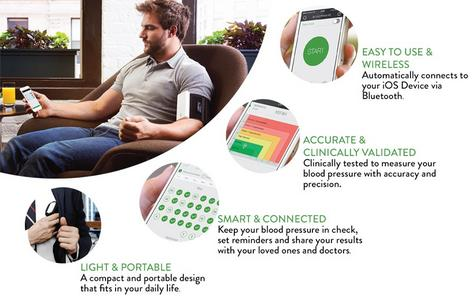 Qardio Arm Wireless Smart Blood Pressure Monitor | Compact & Portable | Multiple Use Thumbnail 8