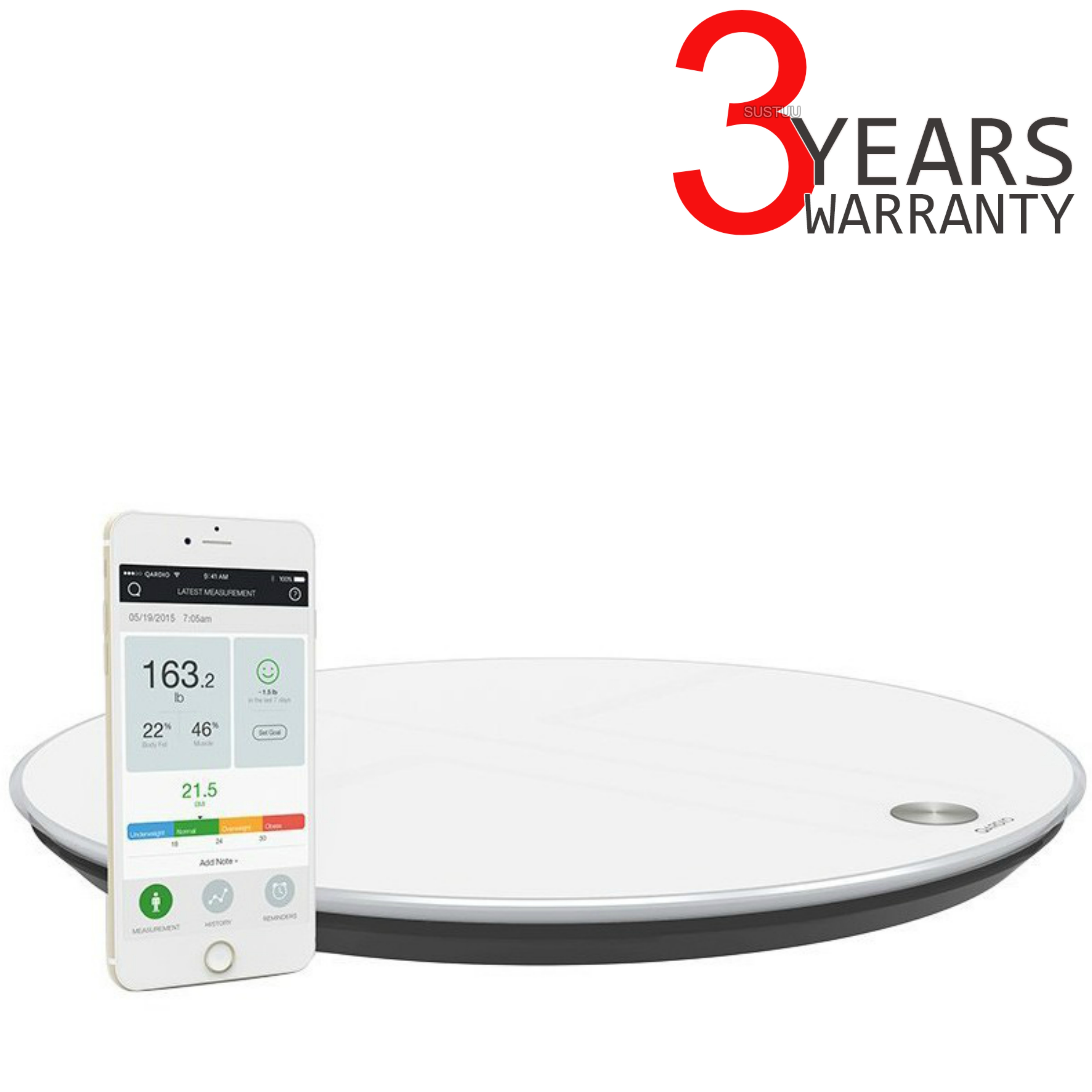 Qardio Base Smart Digital Scale | Full Body Composition | Fitness-BMI-Weight Analyzer