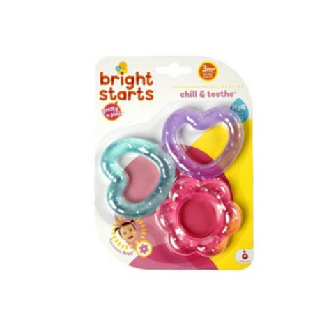 Bright Starts Pretty in Pink Chill N Teether | Kids Fun With Watefilled Dummies x3 Thumbnail 5