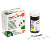 MultiCare In Cholesterol, Trigyceride & Glucose Strips 25pcs | Photometric Measure