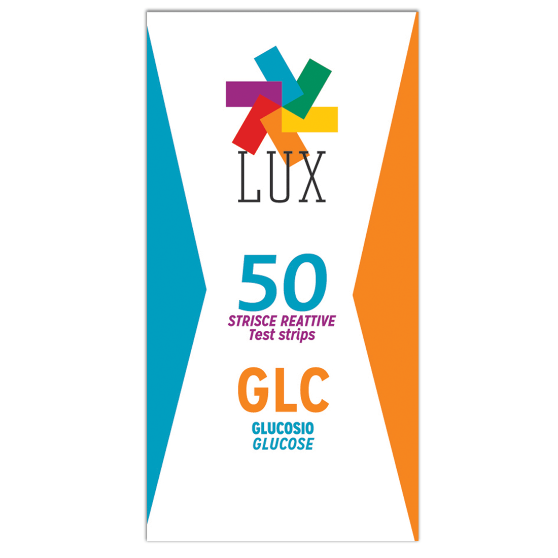 LUX Lipid Glucose Test Strips (Box of 50 Strips) | Plasma Calibration Method | LGE50