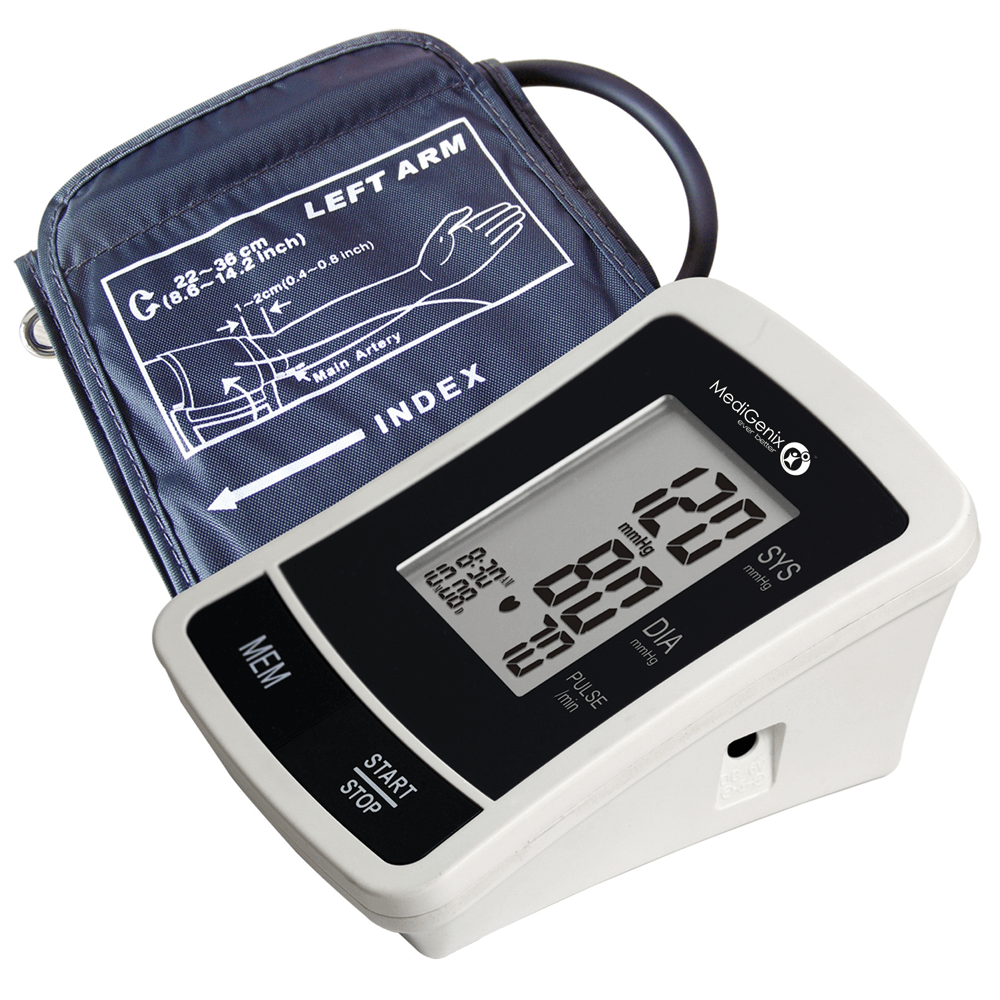 MediGenix Automatic Upper Arm Blood Pressure Monitor | WHO Indicator | 22-36cm Cuff