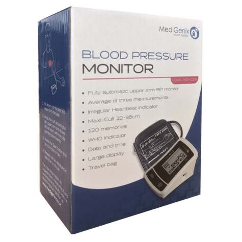 MediGenix Automatic Upper Arm Blood Pressure Monitor | WHO Indicator | 22-36cm Cuff Thumbnail 2