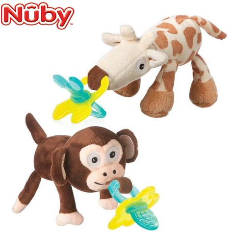 Nuby Snoozie and Chewbie Comfort Set | Design & colour Assorted | Baby Toy+Teether | New Thumbnail 1