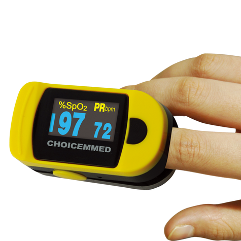 ChoiceMMed Digital Fingertip Pulse Oximeter | 6 Display Modes | Battery-Low Indicator Thumbnail 2