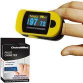 ChoiceMMed Digital Fingertip Pulse Oximeter | 6 Display Modes | Battery-Low Indicator