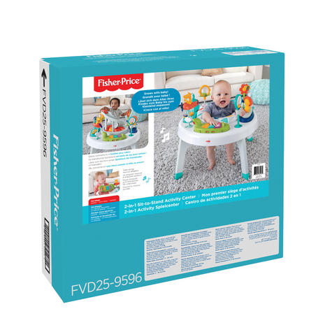 Fisher-Price 2-in-1 Sit to Stand Activity Centre | Toddler/Baby activity table | New Thumbnail 7