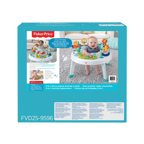 Fisher-Price 2-in-1 Sit to Stand Activity Centre | Toddler/Baby activity table | New Thumbnail 8