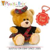 Keel Toys Pippin Scottish Piper Bear|High Quality Finishing|Hand Washable|14cm