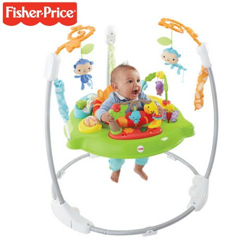 Fisher-Price Roaring Rainforest Jumperoo | Music Llights & sounds | Colorful Toys | 360° Move | New Thumbnail 1