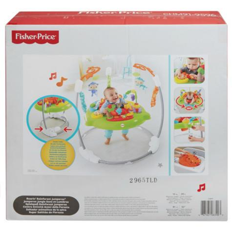 Fisher-Price Roaring Rainforest Jumperoo   Music Llights & sounds   Colorful Toys   360° Move   New Thumbnail 3