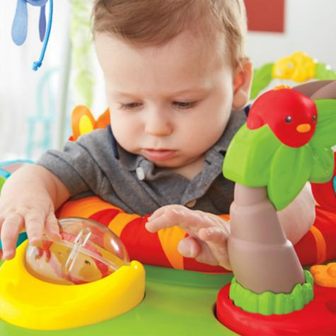 Fisher-Price Roaring Rainforest Jumperoo   Music Llights & sounds   Colorful Toys   360° Move   New Thumbnail 5