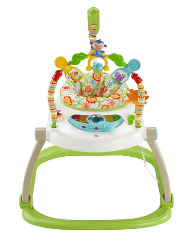 Fisher-Price Rainforest Spacesaver Jumperoo | Portable/Adjustable Baby Bouncer | Lights, Sounds and Music | New Thumbnail 3