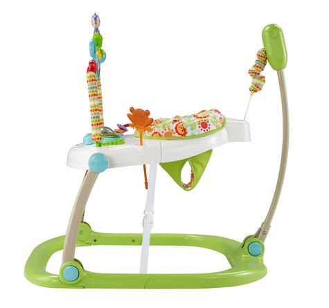 Fisher-Price Rainforest Spacesaver Jumperoo | Portable/Adjustable Baby Bouncer | Lights, Sounds and Music | New Thumbnail 5