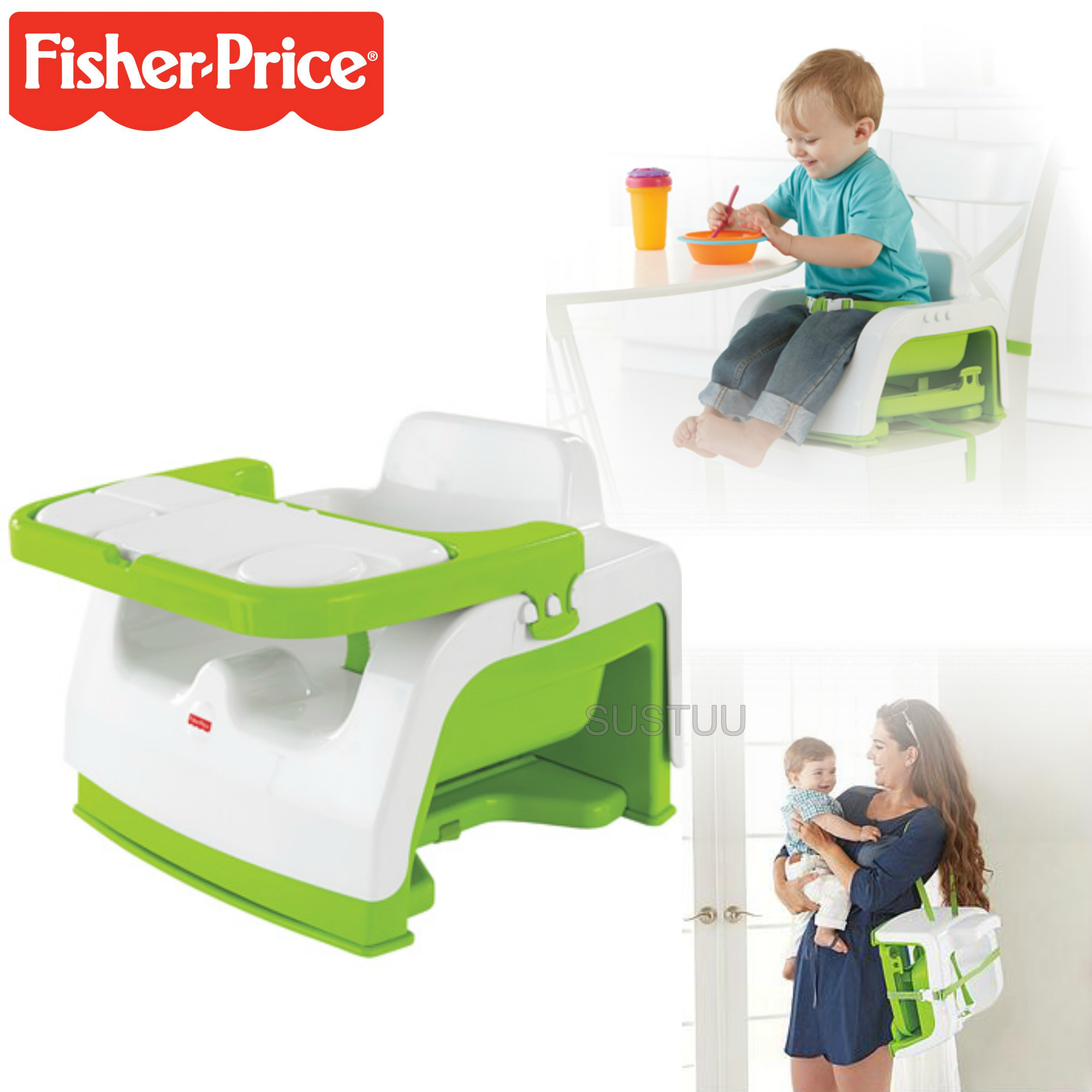 Fisher-Price Grow With Me Portable Booster Baby Seat | Mealtime at Home & Travel | New