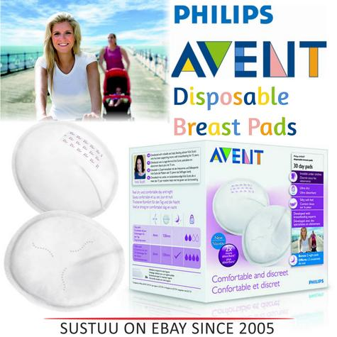 Philips Avent Disposable Breast Pads Day|Hygienic|Four Layers|Silky Soft|30 Pack Thumbnail 1