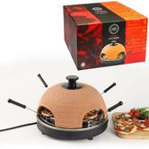 Global Gourmet 4 Person Italian Pizza Maker/Oven | Terracotta Dome | 1000W Power | NEW