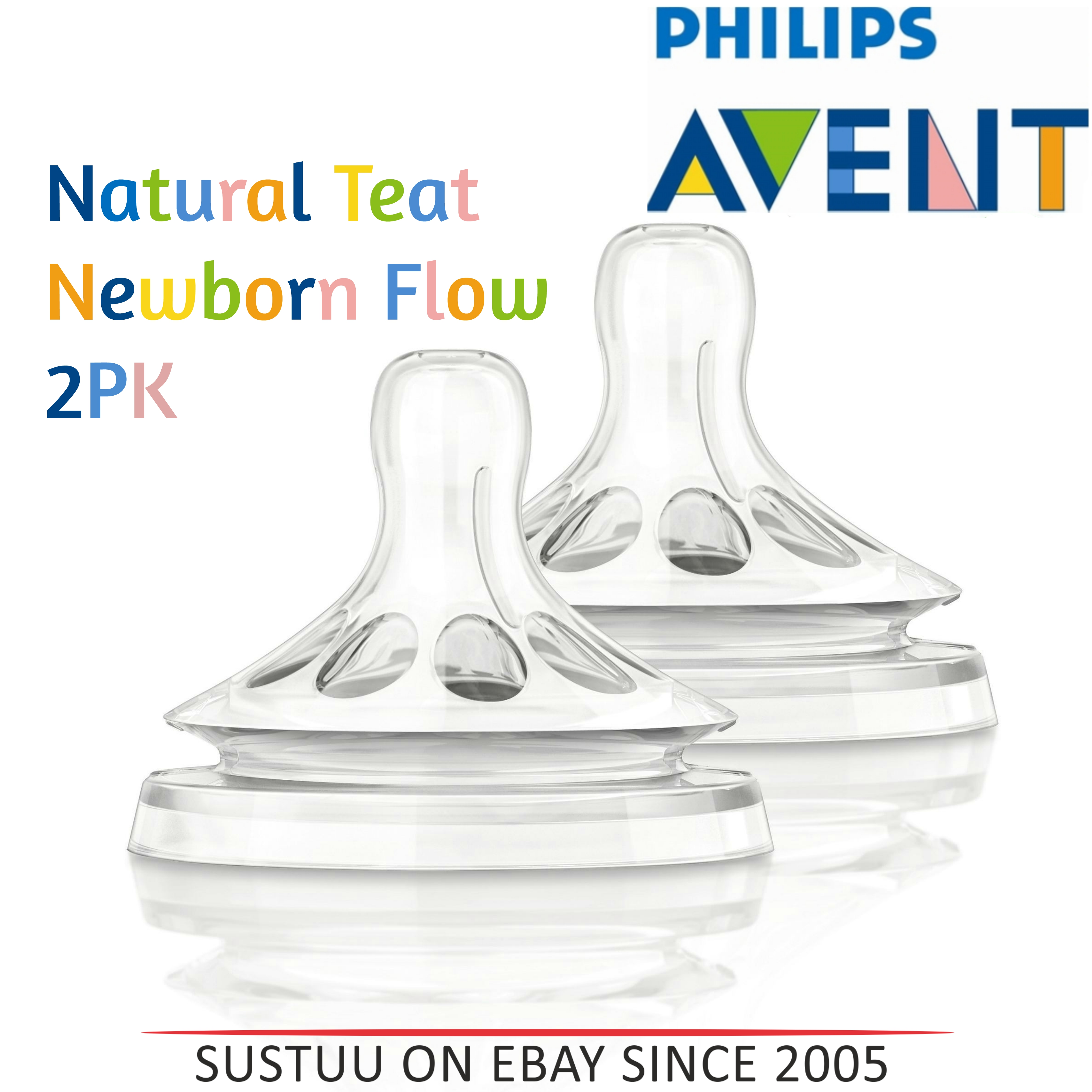 Philips Avent Natural Teat Newborn Baby Flow|BPA Free|Soft & Flexible|Anti Colic