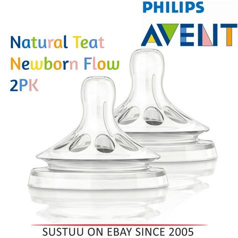 Philips Avent Natural Teat Newborn Baby Flow|BPA Free|Soft & Flexible|Anti Colic Thumbnail 1