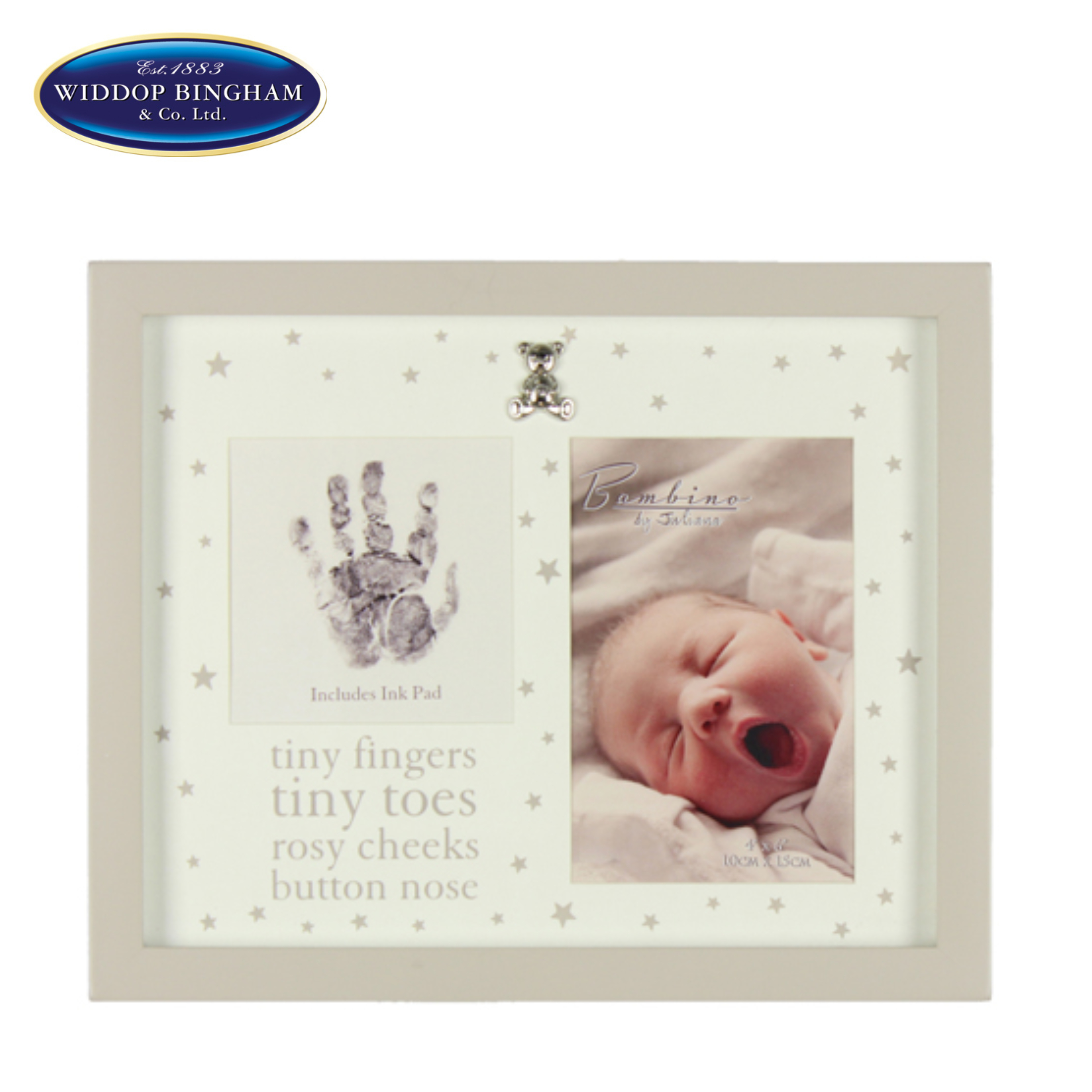 Bambino keepsake  Photo & Print Frame | Baby's Tiny Handprint | Gift for Newborn | New