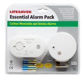 Kidde Lifesaver Essential Alarm Pack | Carbon Monoxide & Smoke Alarm | CO Detector