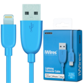 Techlink USB Charge & Sync Lightning Cable/ Connector | 2.0m Blue Plug | 528790