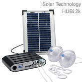 Solar Technology HUBi 2K Solar Power Lighting Kit with AC Adapter|HUBI102AMC