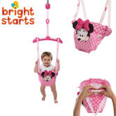 Bright Starts Disney Baby Minnie Mouse Door Jumper/Bouncer | Padded Seat | +6 Months | New
