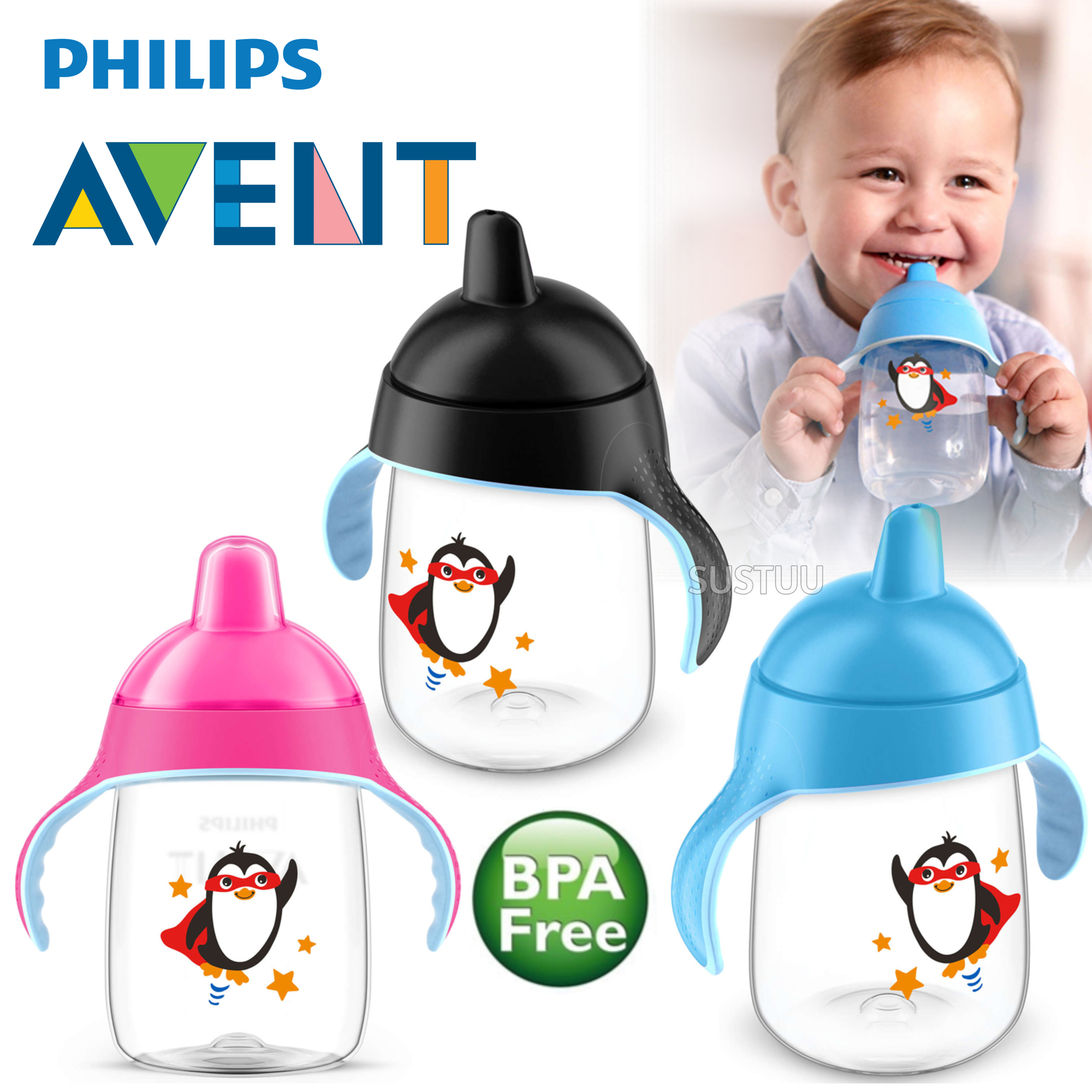 Philips Avent Premium Baby Spout Cup|Independent Drink|Hygiene Cap|BPA Free|340m