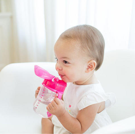 Dr Brown's Baby Weighted Spillproof Straw Cup|BPA Free|Dishwasher Safe|Pink| Thumbnail 4