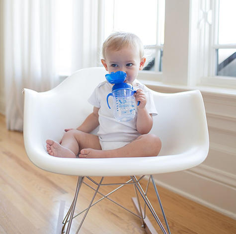 Dr Brown's Baby Weighted Spillproof Straw Cup|BPA Free|Dishwasher Safe|Blue| Thumbnail 4