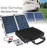 Solar Technology PV Logic 40wp Fold Up Portable Solar Panel|Use Caravan/ Trucks/ Boats & Outdoor Use