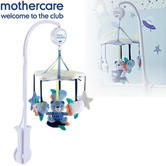 Mothercare Space Dreamer Cot Mobile Attaches To Baby's Bed | Soft Musical Toy | 0m+