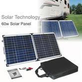 Solar Technology PV Logic 60wp Fold Up Portable Solar Panel|Use Caravan/ Trucks/ Boats & Outdoor Use
