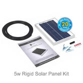 Solar Technology 5w Rigid Solar Panel Kit - STP005|Use Caravans/ Motor Homes/ Boats