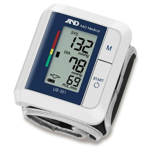 A&D Medical UB351 Wrist Blood Pressure Monitor | IHB Indicator | Compact Design | Whit Thumbnail 2