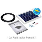 Solar Technology 10w Rigid Solar Panel Kit - STP010|Use Caravans/ Motor Homes/ Boats