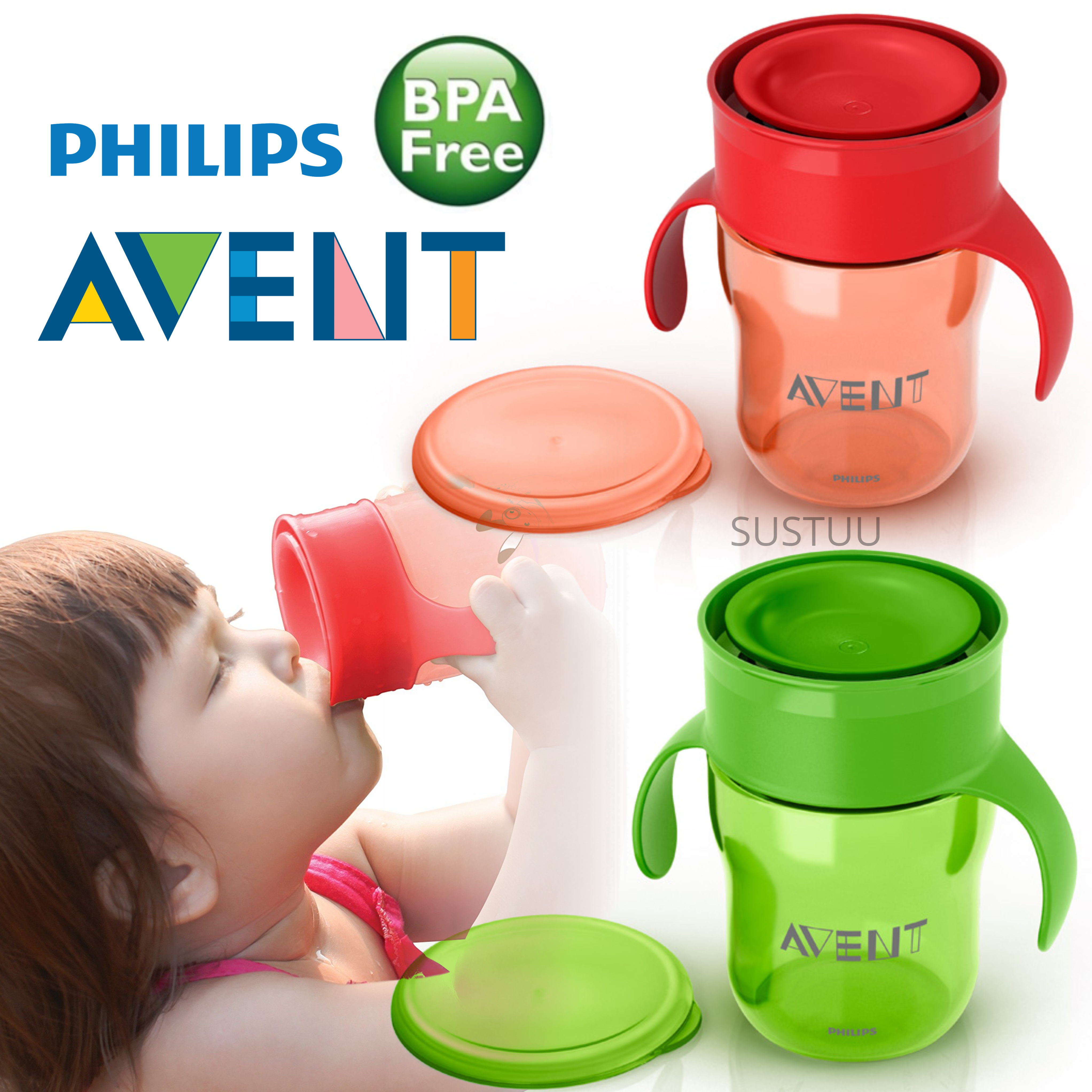 Philips Avent Baby Grown Up Cup|Lip Activated Technology|BPA Free Material|260ml
