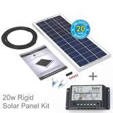 Solar Technology 20w Rigid Solar Panel Kit + 10 AH Controller|Use Caravan/ Boats