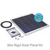 Solar Technology Pv Logic 80w Rigid Solar Panel Kit - STP080?Use MotorHome/ Cravans/ Boats