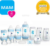 MAM Easy Start 15pc Anti-Colic  Baby Feeding  Bottle Starter Set | Blue | Baby-boy | New