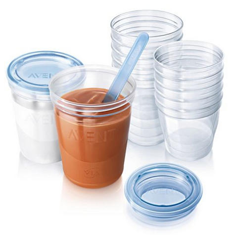 Philips Avent Reuseable Breast Milk Storage Cupx10|Leak-Proof Lid?Baby Food Pots Thumbnail 3