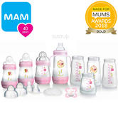 MAM Easy Start 15pcAnti-Colic Baby Feeding Bottle Starter Set | Pink | Baby-Girl | New