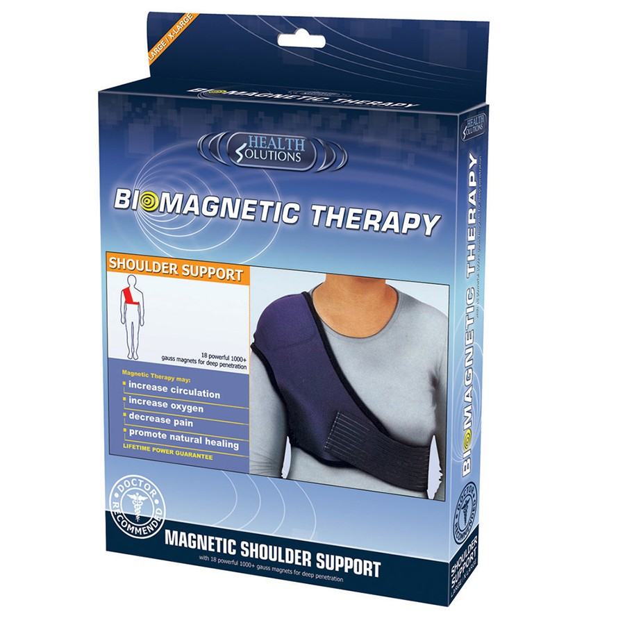 Health Solutions Biomagnetic Shoulder Support (L/XL) | Soft Durable Materials | NEW