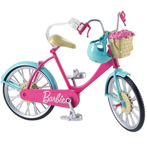 Barbie Bike Playset | Bicycle Toy For Barbie With Basket,Flowers & Helmet | 3 Years+ Thumbnail 2