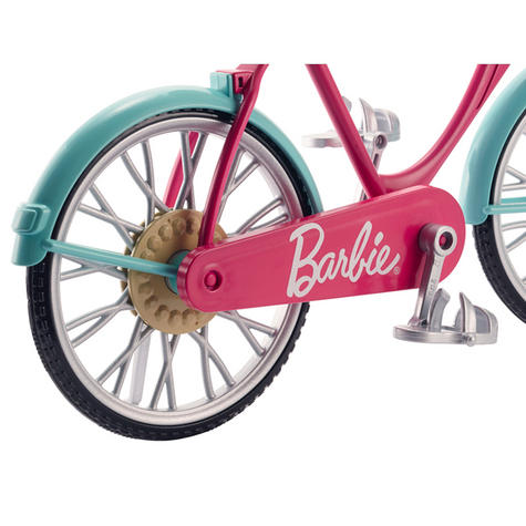 Barbie Bike Playset | Bicycle Toy For Barbie With Basket,Flowers & Helmet | 3 Years+ Thumbnail 5