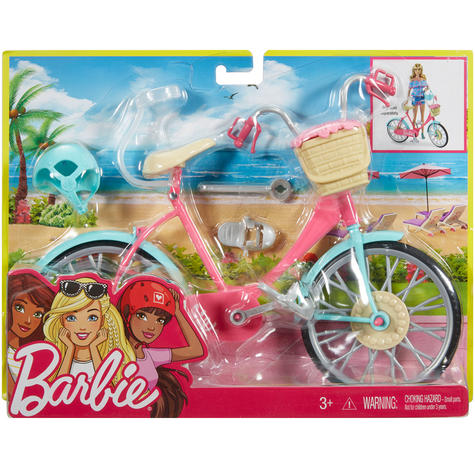 Barbie Bike Playset | Bicycle Toy For Barbie With Basket,Flowers & Helmet | 3 Years+ Thumbnail 7