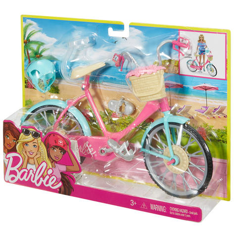 Barbie Bike Playset | Bicycle Toy For Barbie With Basket,Flowers & Helmet | 3 Years+ Thumbnail 8