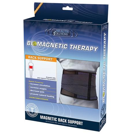 Health Solutions Biomagnetic Back Support (Large/X-Large) | Magnetic Brace Strap Thumbnail 1