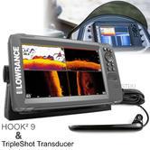 Lowrance HOOK2-9 Fishfinder/Chartplotter & TripleShot Transducer|000-14025-001